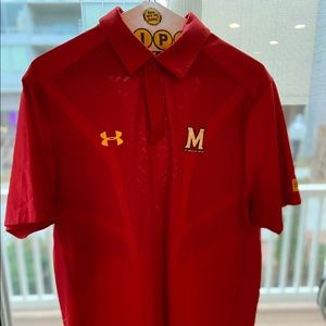 UMD mesh insert red under armour polo L loose fit